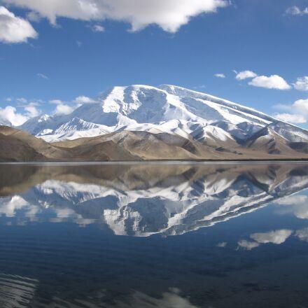 china, karakolsee, snow mountain, Canon POWERSHOT S70