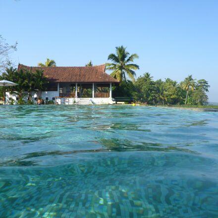 hotel, swimming pool, sea, Panasonic DMC-TS2