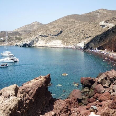 red beach, santorini, greece, Panasonic DMC-FS4