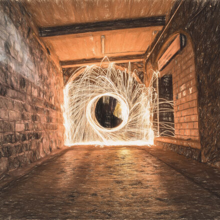 sparks, in, tunnel, during, Canon EOS 6D