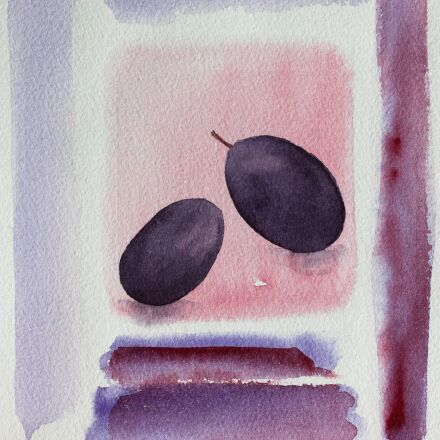 olive, black, watercolour, Canon EOS 50D