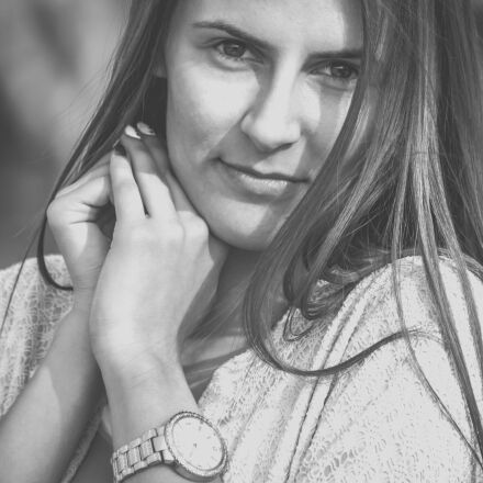 girl, portrait, smile, Canon EOS 400D DIGITAL