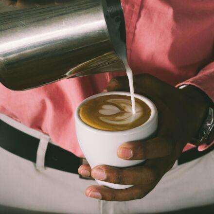 coffee, cappuccino, cafe, Canon EOS 100D