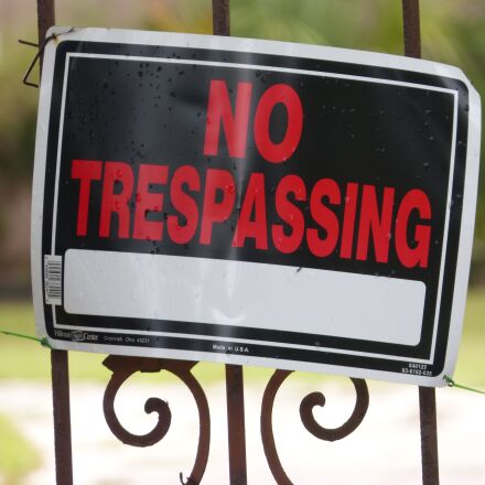 no trespassing, keep out, Panasonic DMC-FZ60