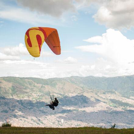 antioquia, colombia, medellin, paragliding, Nikon D3000
