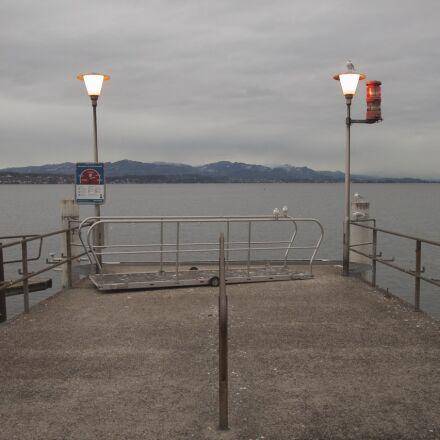 clouds, cloudy, gull, lake, Canon EOS 1100D