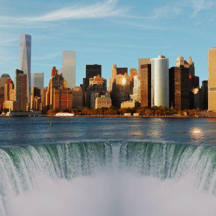 newyork, city, sea, Nikon COOLPIX AW100
