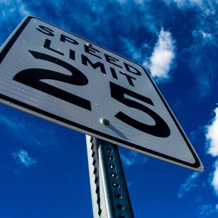 street, sign, speed, Pentax K-5 II S
