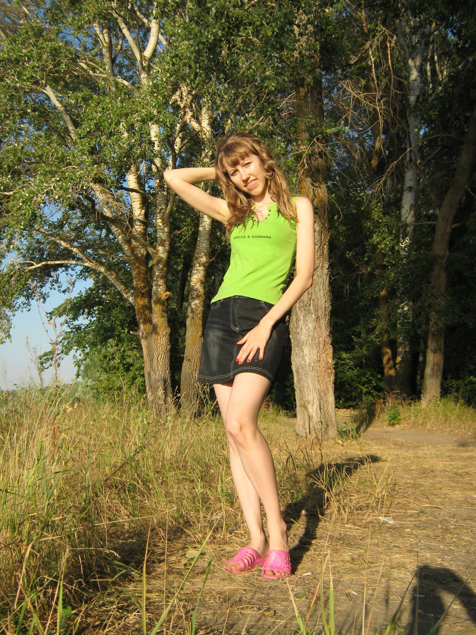 """Canon PowerShot A470 sample photo. """"Girl, beach, forest"""" photography"""