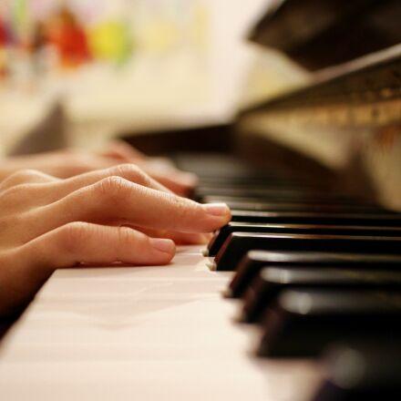 music, piano, keys, Canon EOS M