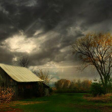clouds, dark, sky, Panasonic DMC-ZS7
