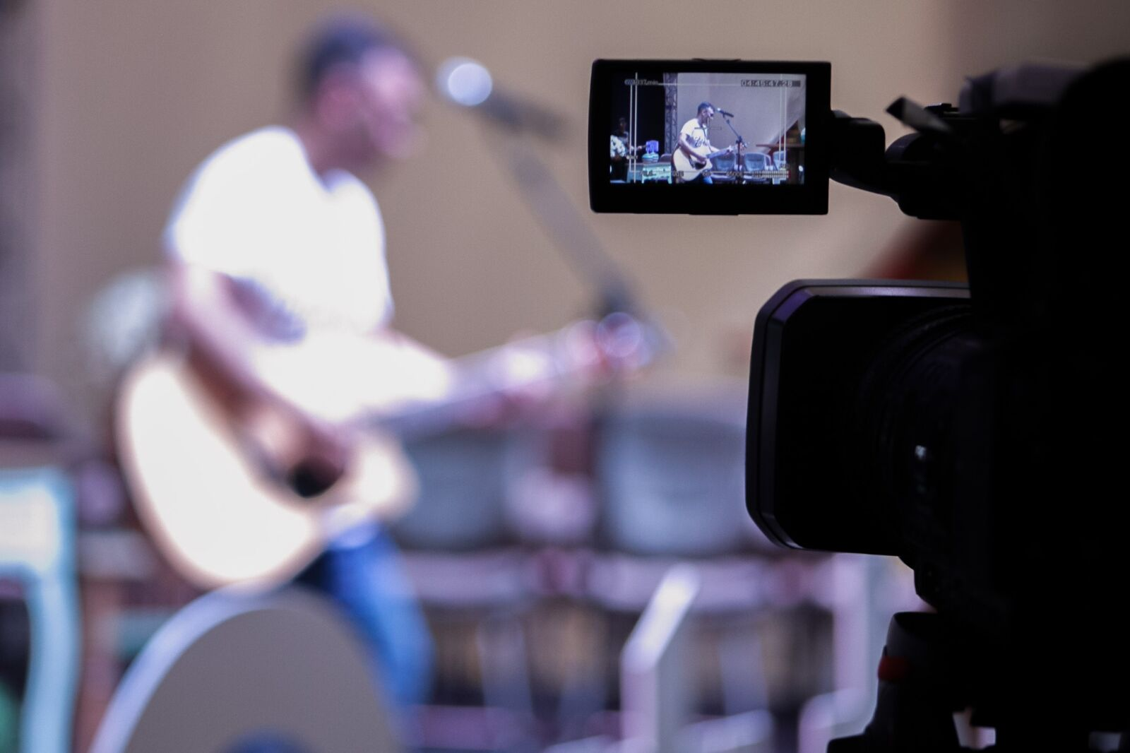 camera, guitar, recording photography