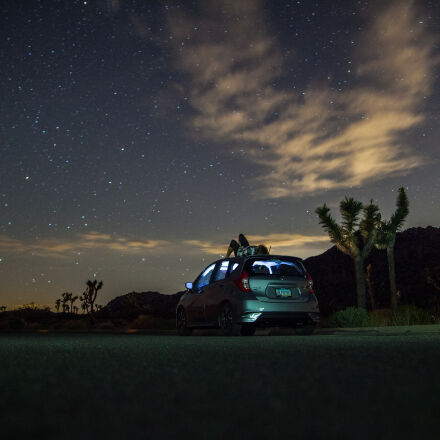 cars, woman, night, clouds, Canon EOS 5D MARK II