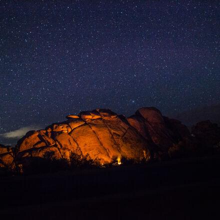 mountains, nature, sky, night, Canon EOS 5D MARK II