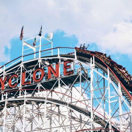 cyclone, roller, coaster, ride, Nikon D3300