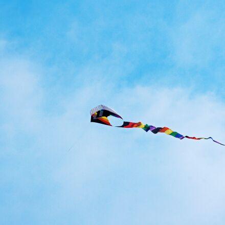 kite, fly, sky, Sony SLT-A33
