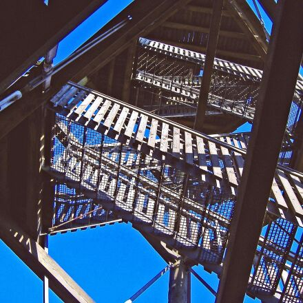 observation tower, emergence, stairs, Fujifilm FinePix A345