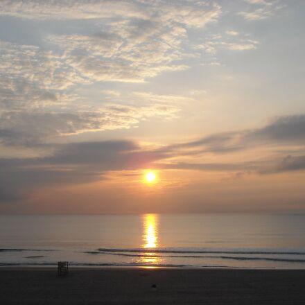 ocean sunrise, sea, ocean, Nikon COOLPIX L18