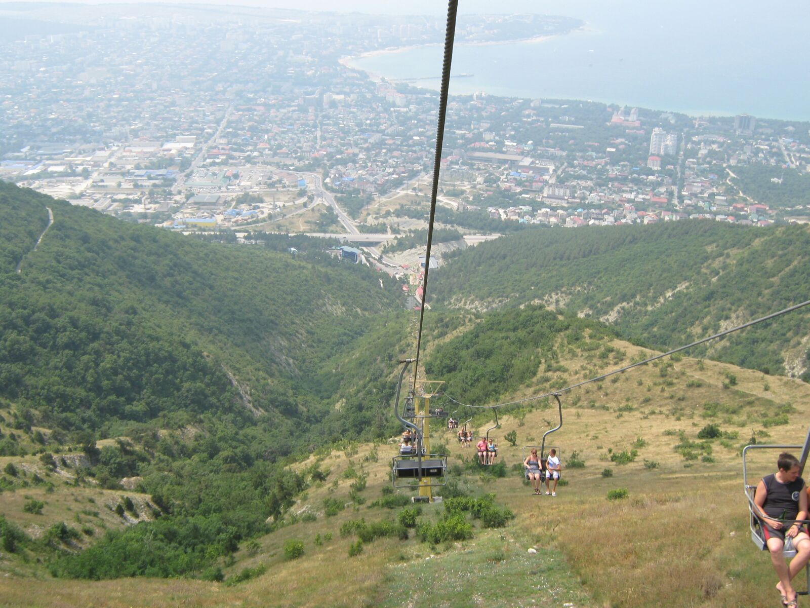 cable car, mountains, height