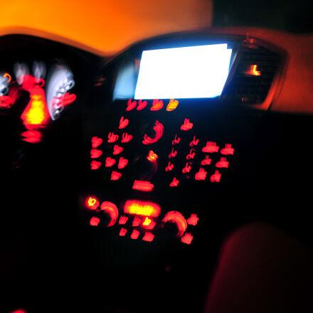 blurry, insignia, lights, opel, Nikon D300S