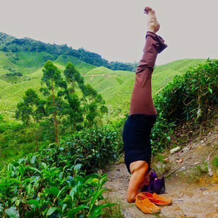 malaysia, yoga, headstand, Panasonic DMC-ZS20