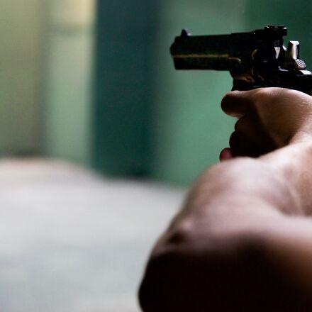 gun, hands, black, Nikon D600