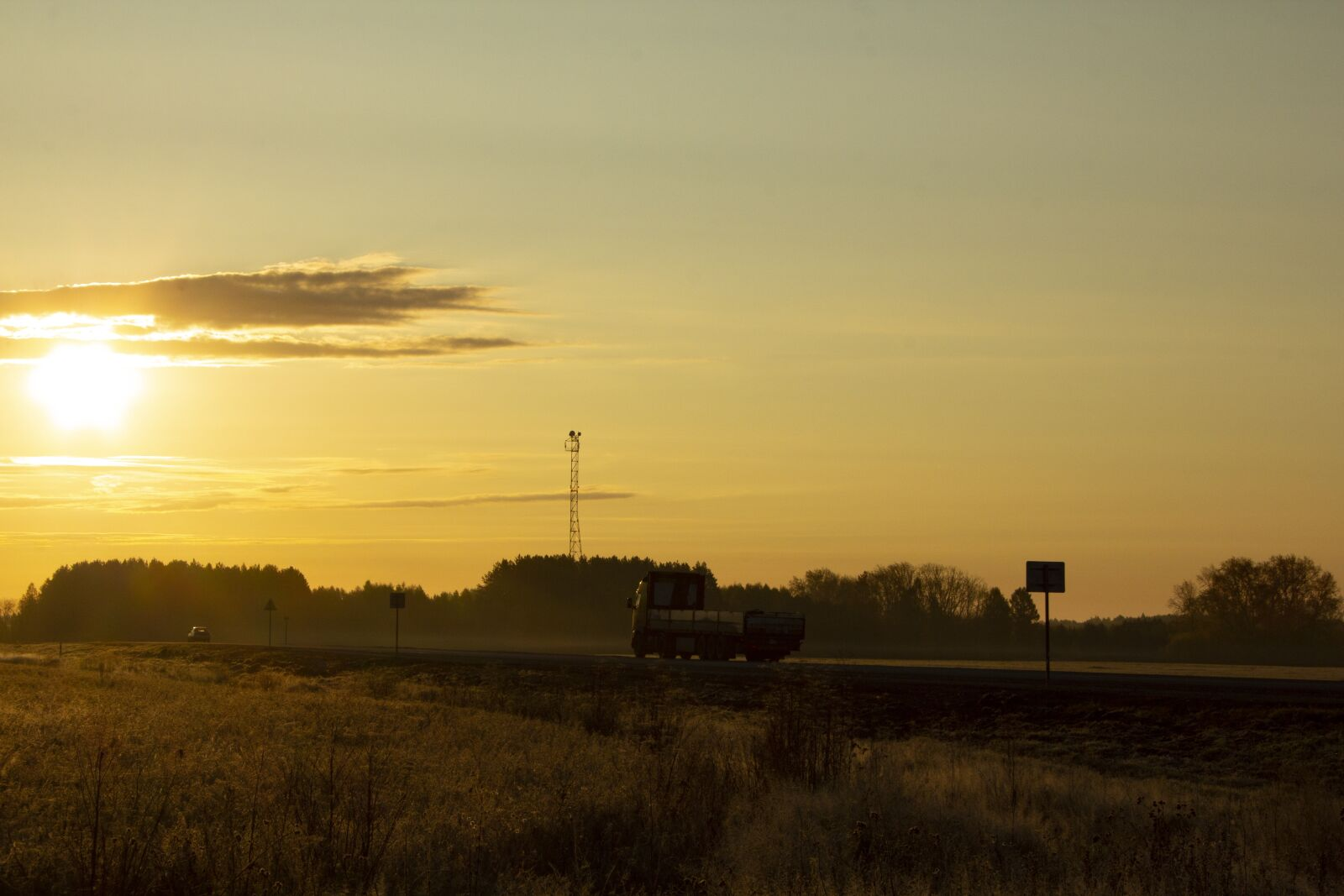 """Canon EOS 60D sample photo. """"Road, track, dawn"""" photography"""