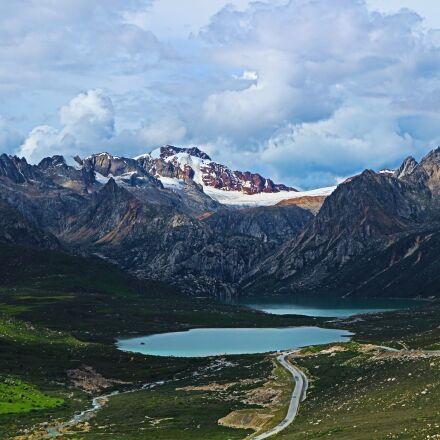 sister lake, tibet, sichuan-tibet, Canon EOS M10