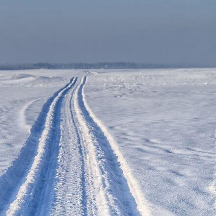 snow, road, snowmobile, Pentax K-500