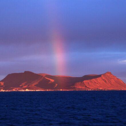 iceland, volcano, rainbow, Canon EOS 100D