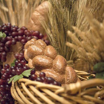 bread, wheat, grapes, Canon EOS 5D