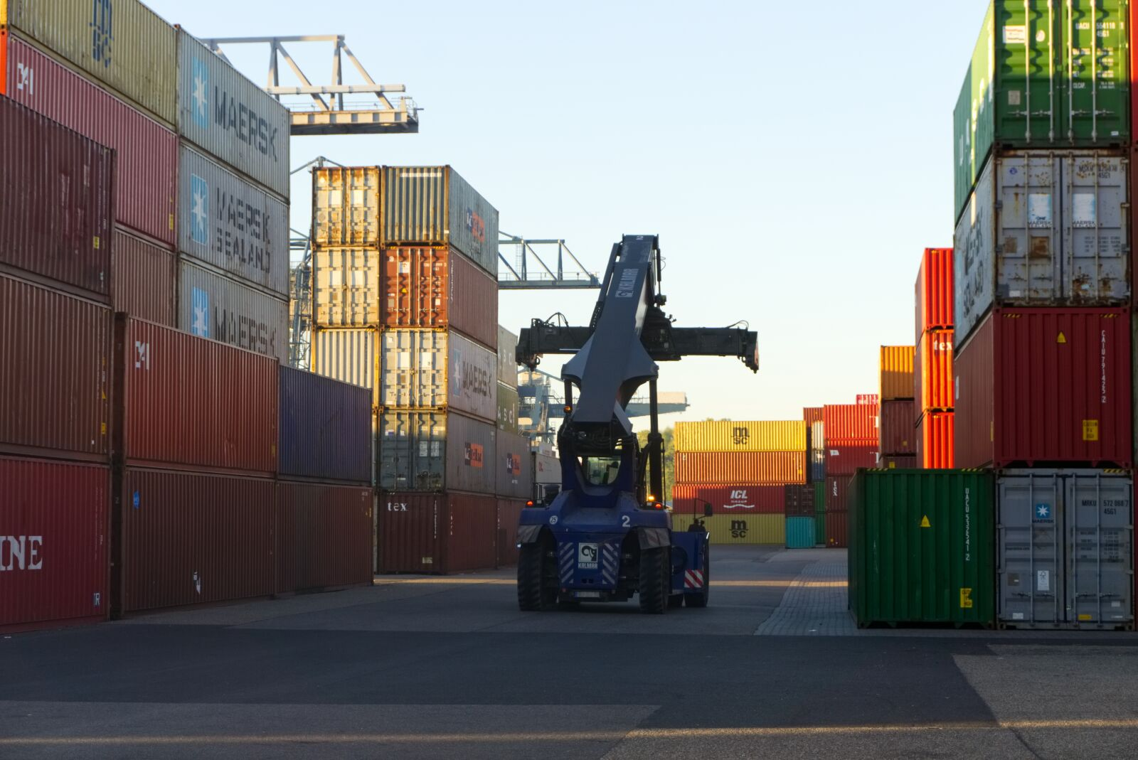 """Sony a6000 sample photo. """"Container, loading crane, sunrise"""" photography"""