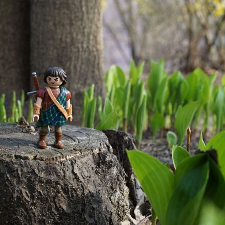 playmobil, forest, the highlander, Sony ILCE-7S
