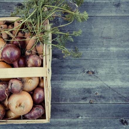 vegetables, harvest, fresh, basket, Canon EOS 5D MARK III