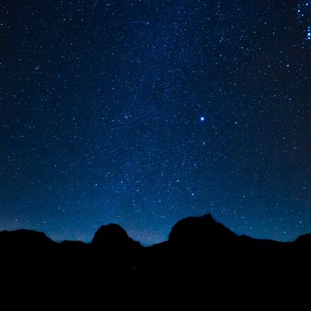 starry sky, star, mountains, Canon EOS 70D