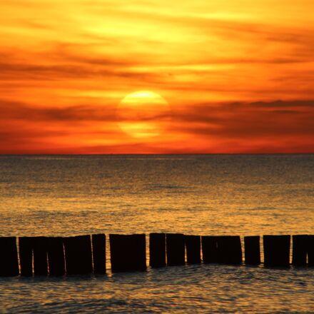 sunset, sea, sunset sea, Canon EOS 1200D