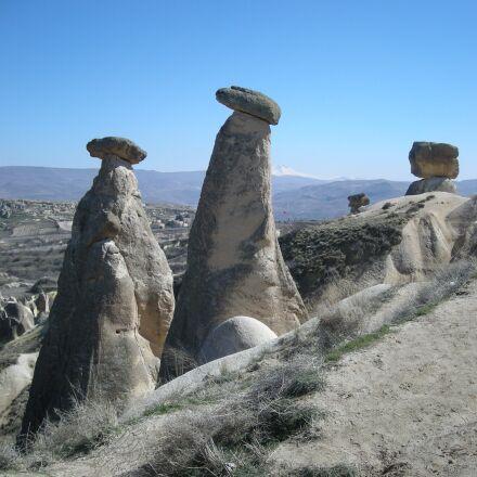 cappadocia, mushroom stone, sky, Nikon COOLPIX S500