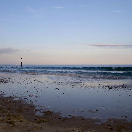 beach, sea, sunset, Canon EOS 1100D
