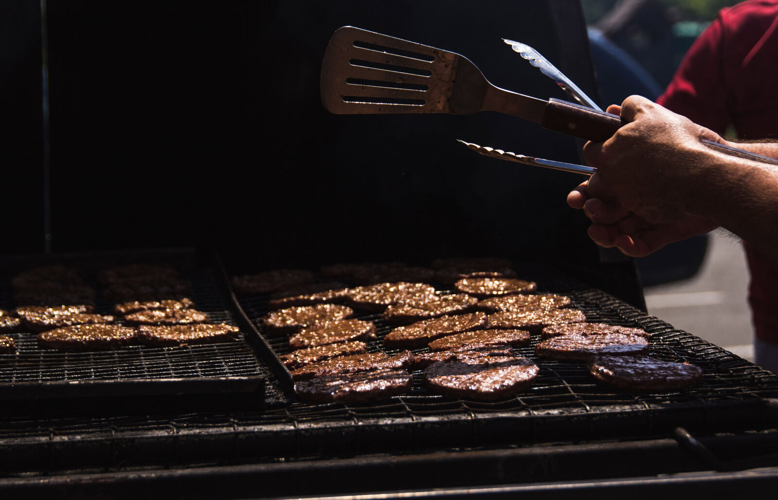 burgers, cookout, picnic, summer