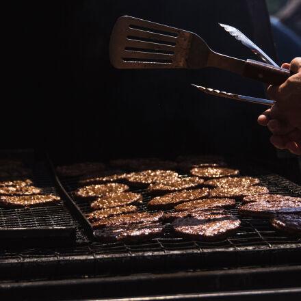 burgers, cookout, picnic, summer, Canon EOS 60D