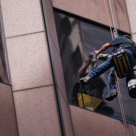 worker, work, window, Sony NEX-5N