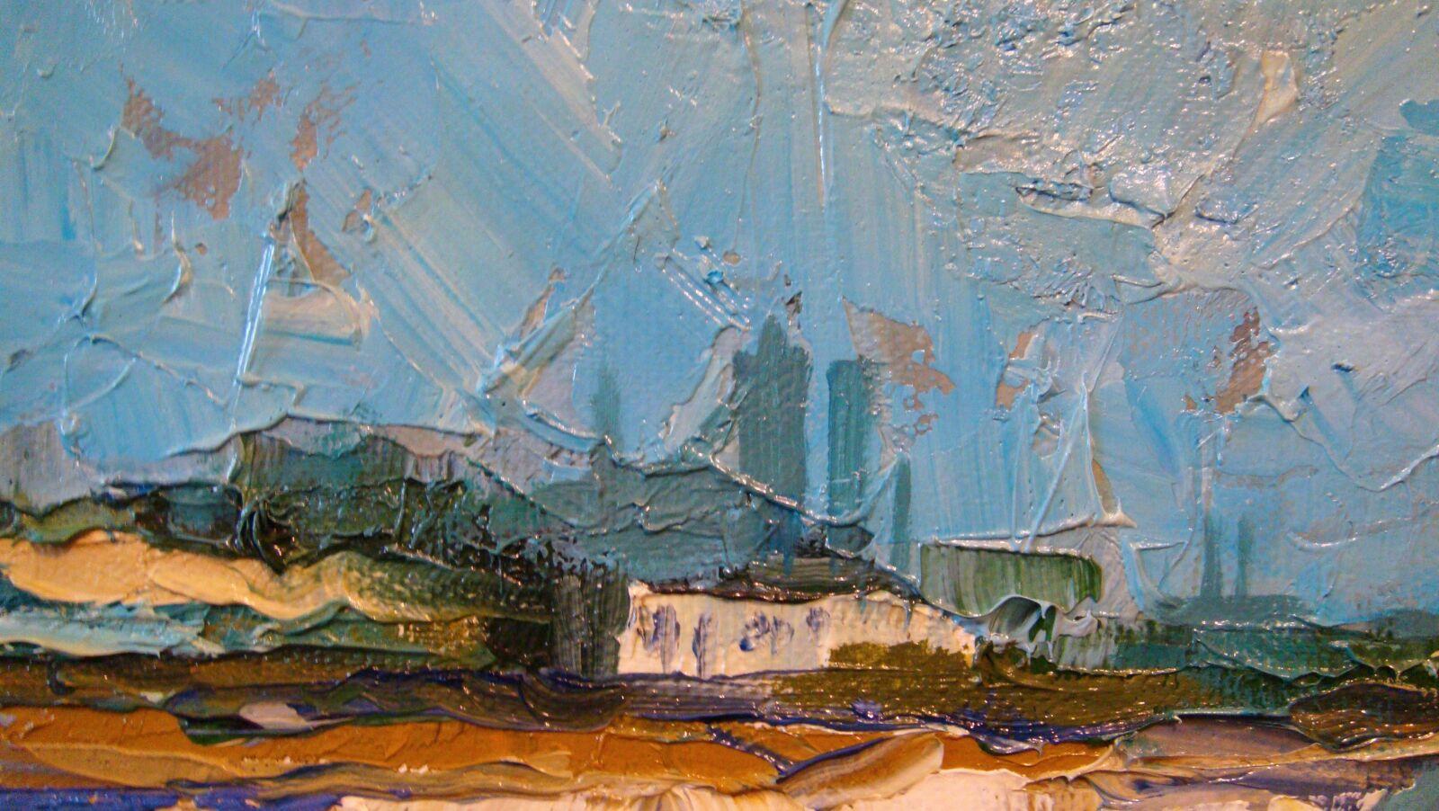 "Sony DSC-T300 sample photo. ""Quarry, canvas, oil"" photography"