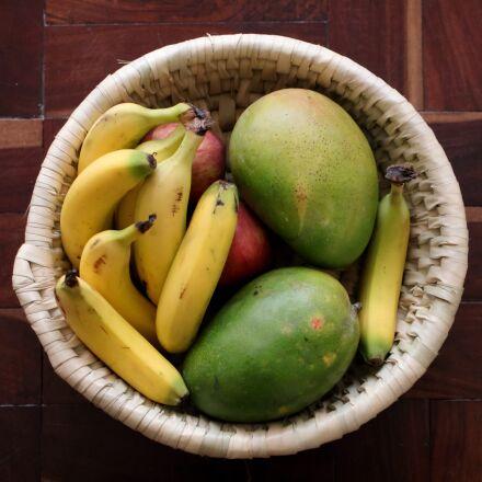 fruits, mangoes, banana, Canon EOS 80D