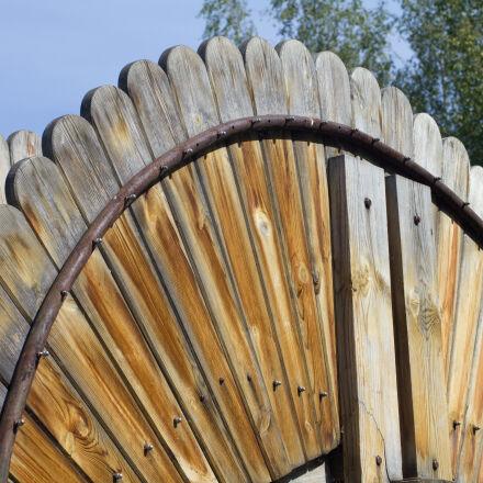 arch, architecture, birch, blue, Canon EOS 550D
