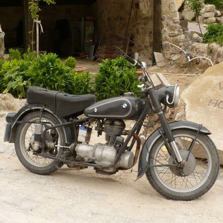 old bike, motorcycle, bmw, Panasonic DMC-LZ7