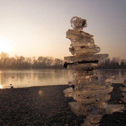 ice, ice pyramid, sunset, Canon POWERSHOT A1200