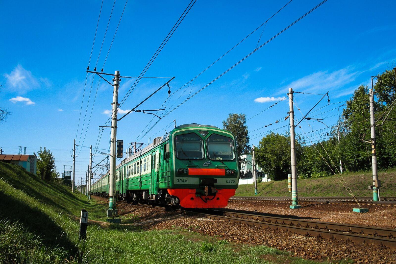 "Canon POWERSHOT A620 sample photo. ""Elektrichka, rails, train"" photography"