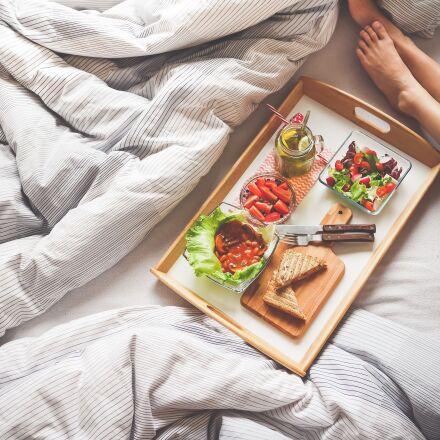 adult, breakfast, bedroom, Panasonic DMC-GM1
