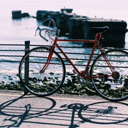 sea, sunny, sun, bicycle, Samsung NX3000