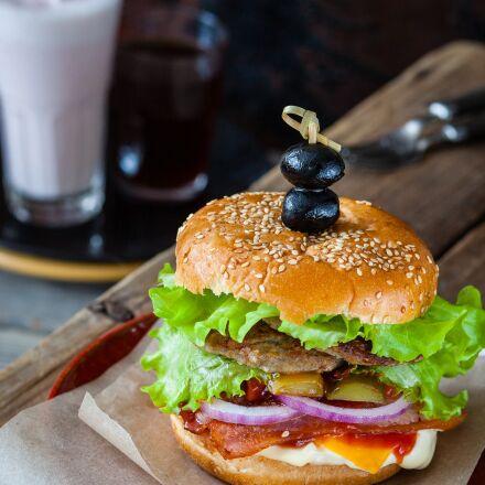 hamburger, burger, café, Canon EOS 5D MARK II